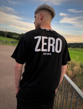 Load image into Gallery viewer, UNISEX OVERSIZED RINGER NECK TEE - BLACK - Zero Clothing UK