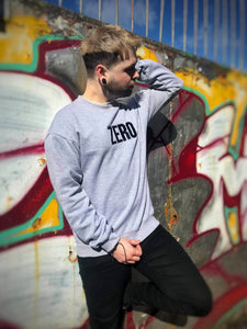 OVERSIZED SWEATSHIRT - GREY - Zero Clothing UK