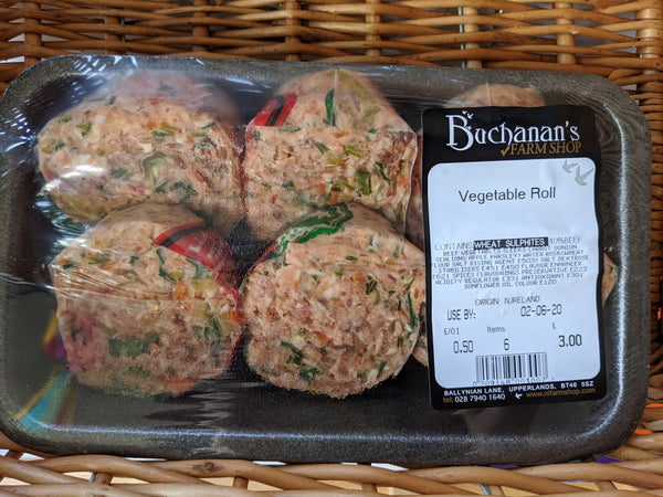 Buchanans Farm Vegetable Roll (pack of 6)