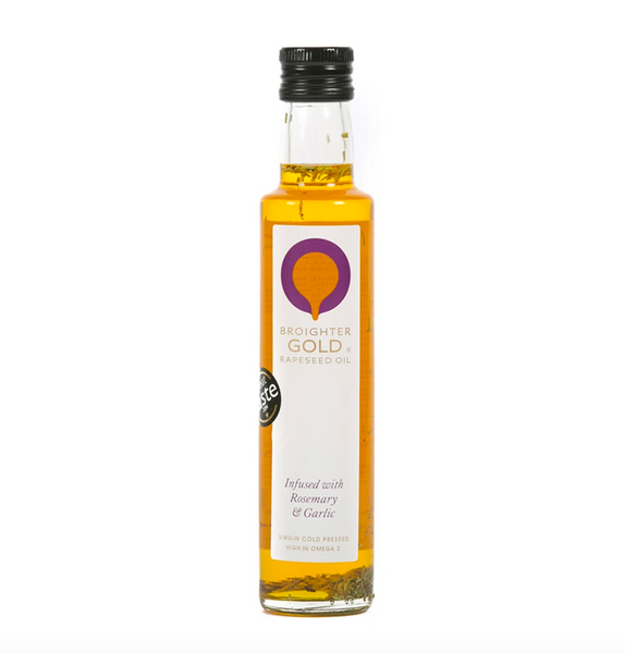 Broighter Gold rapeseed oil – infused with rosemary & garlic