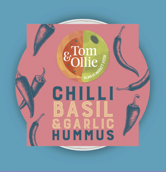 Tom & Ollie's Hummus: Chilli, Basil & Garlic