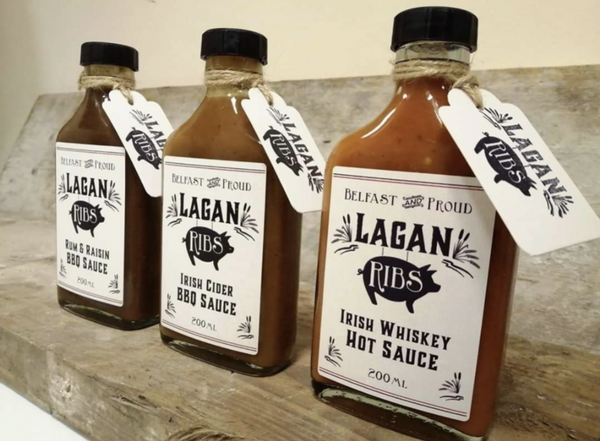 Lagan Ribs sauce 200ml glass bottle