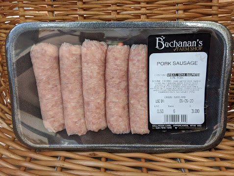 Buchanans Farm Pork Sausages (pack of 6)