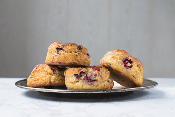 Buttermilk scones (flavours subject to availability)