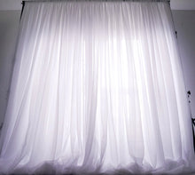 Load image into Gallery viewer, 10ftx10ft Sheer Voile Drape - White