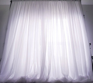 10ftx10ft Sheer Voile Drape - White
