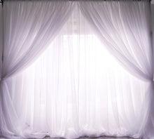 Load image into Gallery viewer, 10ft x 10ft Sheer Voile Drape - White (Double-layer)