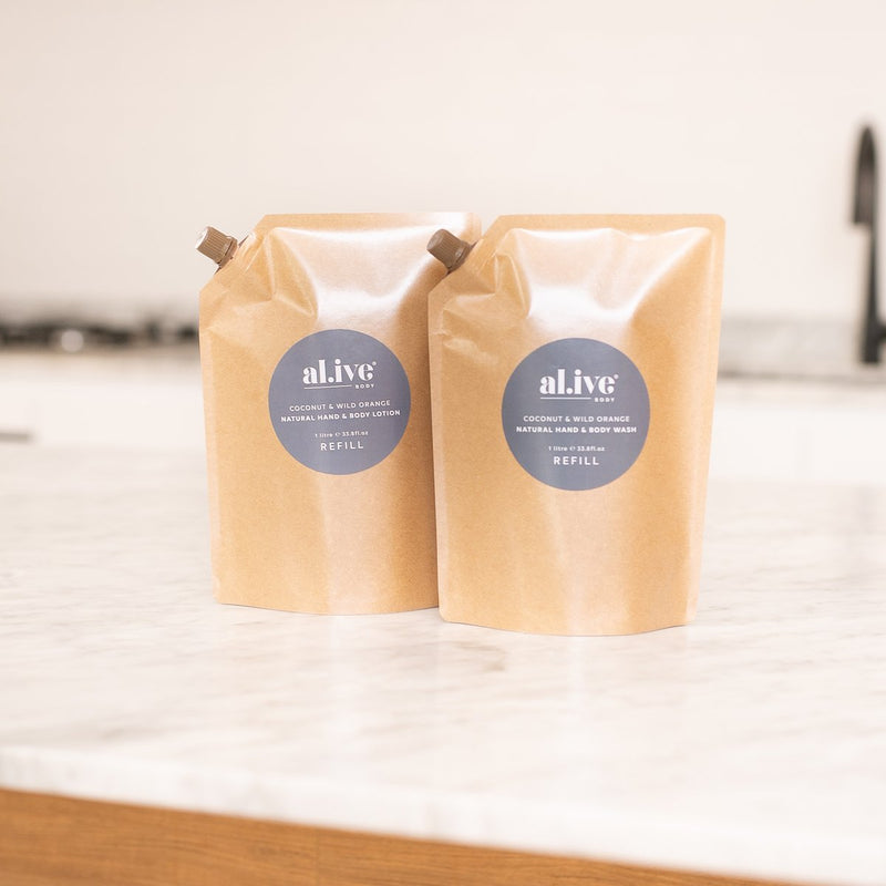 BUNDLE OF COCONUT & WILD ORANGE REFILLS - al.ive body®