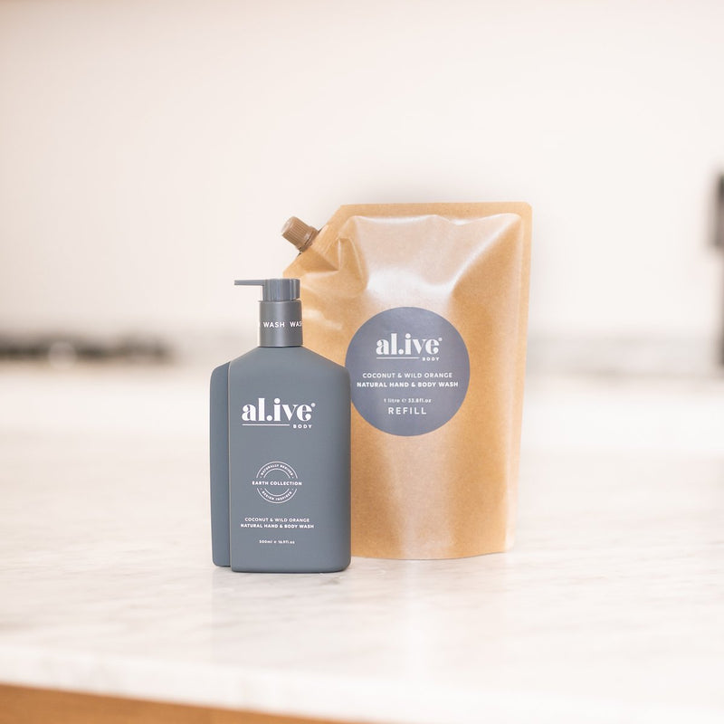 COCONUT & WILD ORANGE WASH REFILL - al.ive body®