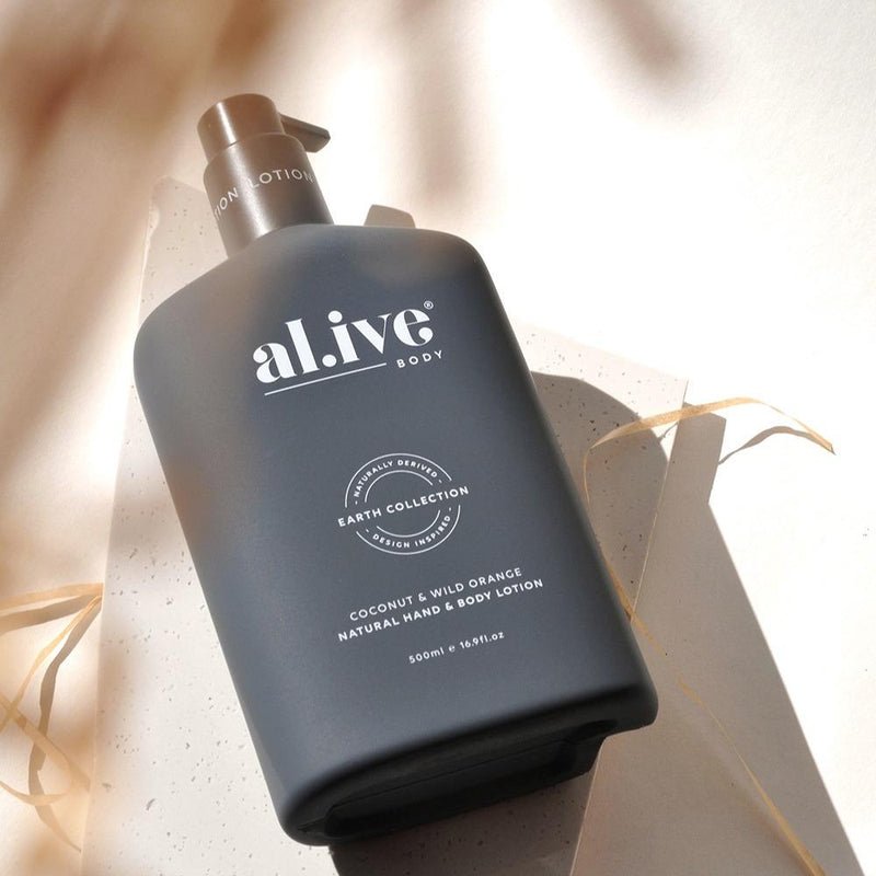 HAND & BODY LOTION - Coconut & Wild Orange - al.ive body®