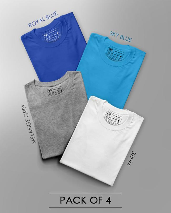 MAKE YOUR OWN COMBO HALF SLEEVES T-SHIRT (PACK OF 4)
