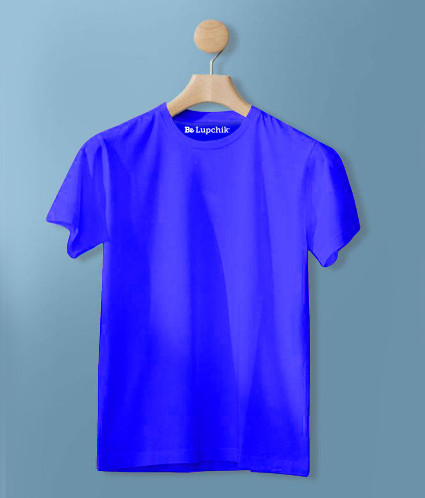 Royal Blue Solid Tee