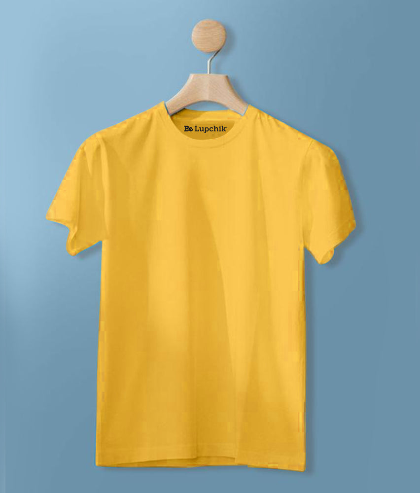 Solid Golden Yellow tees