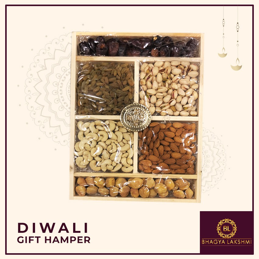 Dry Fruits Pinewood Tray (Large)