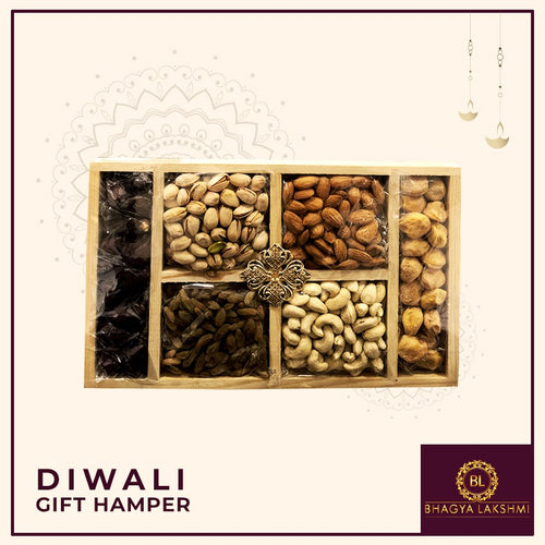 Dry Fruits Pinewood Tray (Regular)