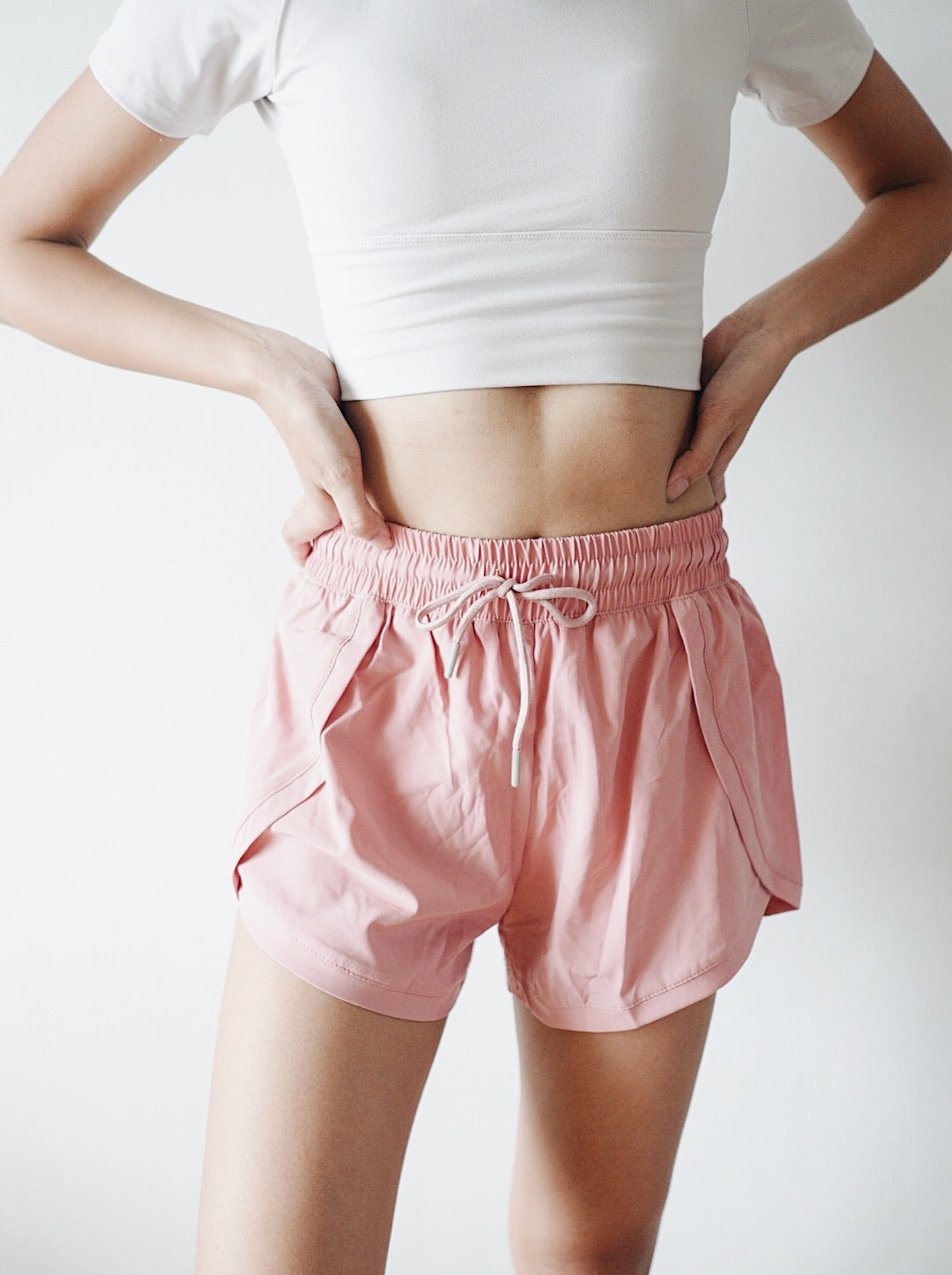 Chic Running Shorts - Rose