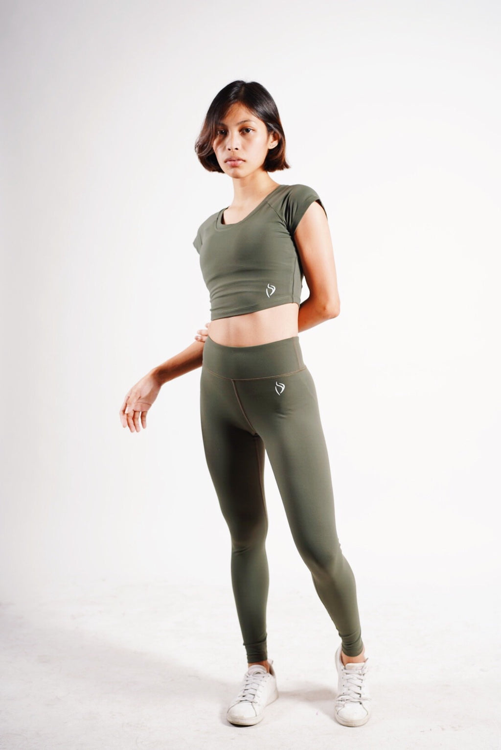 Shape Up Leggings - Army Green