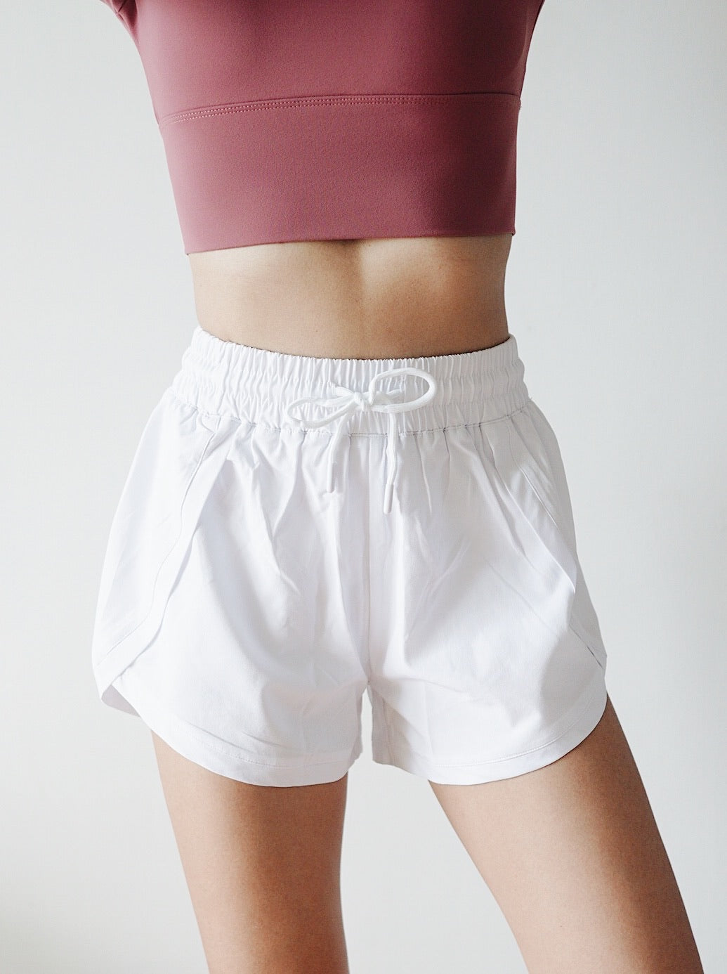 Chic Running Shorts - White