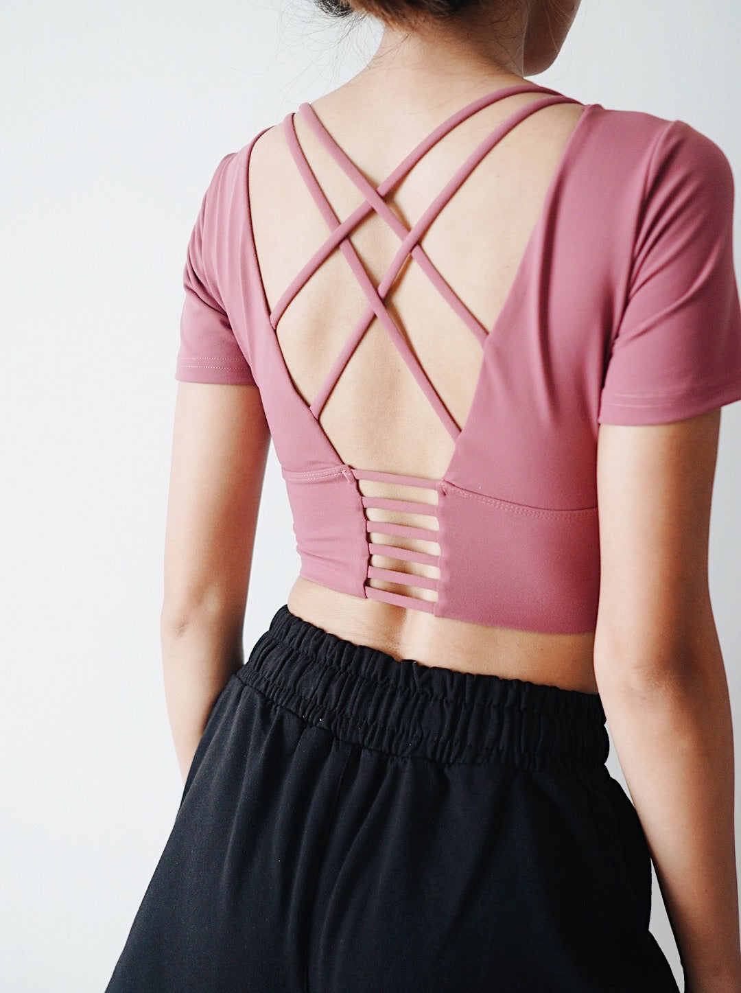 Chic Crop Top - Rouge Pink