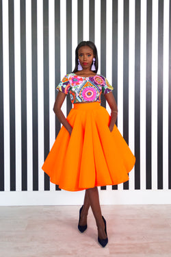 Ophelia Skirt - Orange