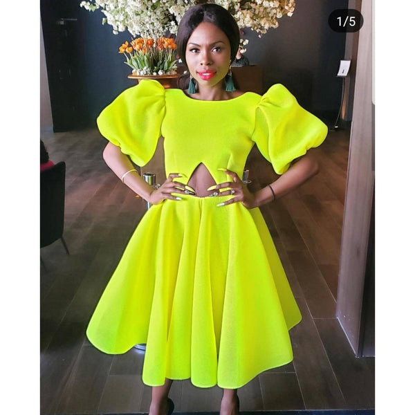 Belle Dress Neon With Cutout - Pre Order - Ships May