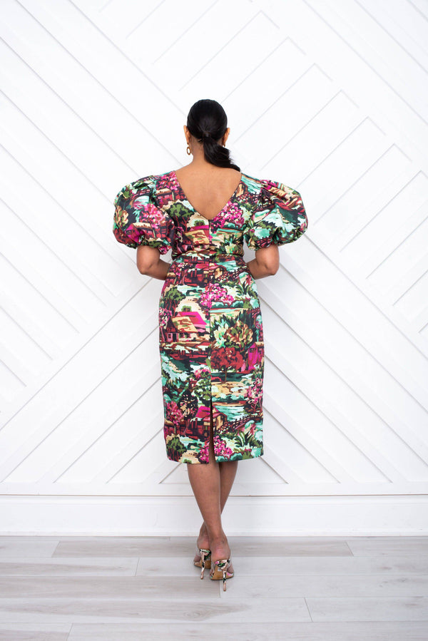 Carmen Pencil Dress back - [shop-name]