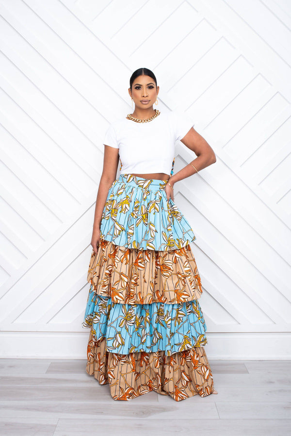 Delila Tiered Maxi Skirt - [shop-name]