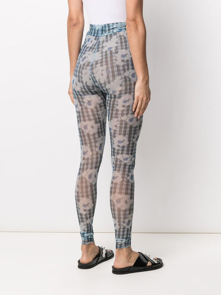 POLLEN MESH LEGGINGS - MINT