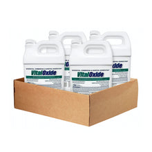 Load image into Gallery viewer, Vital Oxide hospital grade disinfectant, cleaner and sanitizer, 4 gallon case.