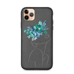 She Blooms all Day Biodegradable phone case