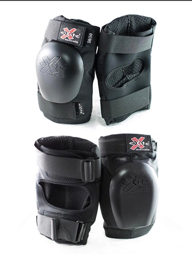 Exite 50/50 Knee and Elbow Protective Pad Set combo pack
