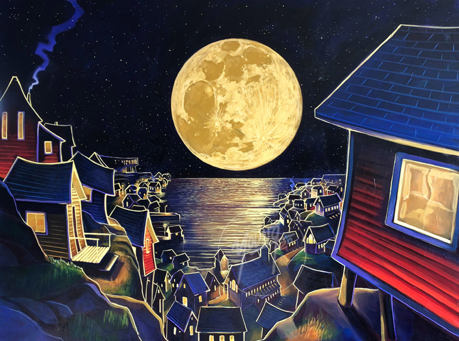 Young Studios Art Print - Harbour Moon