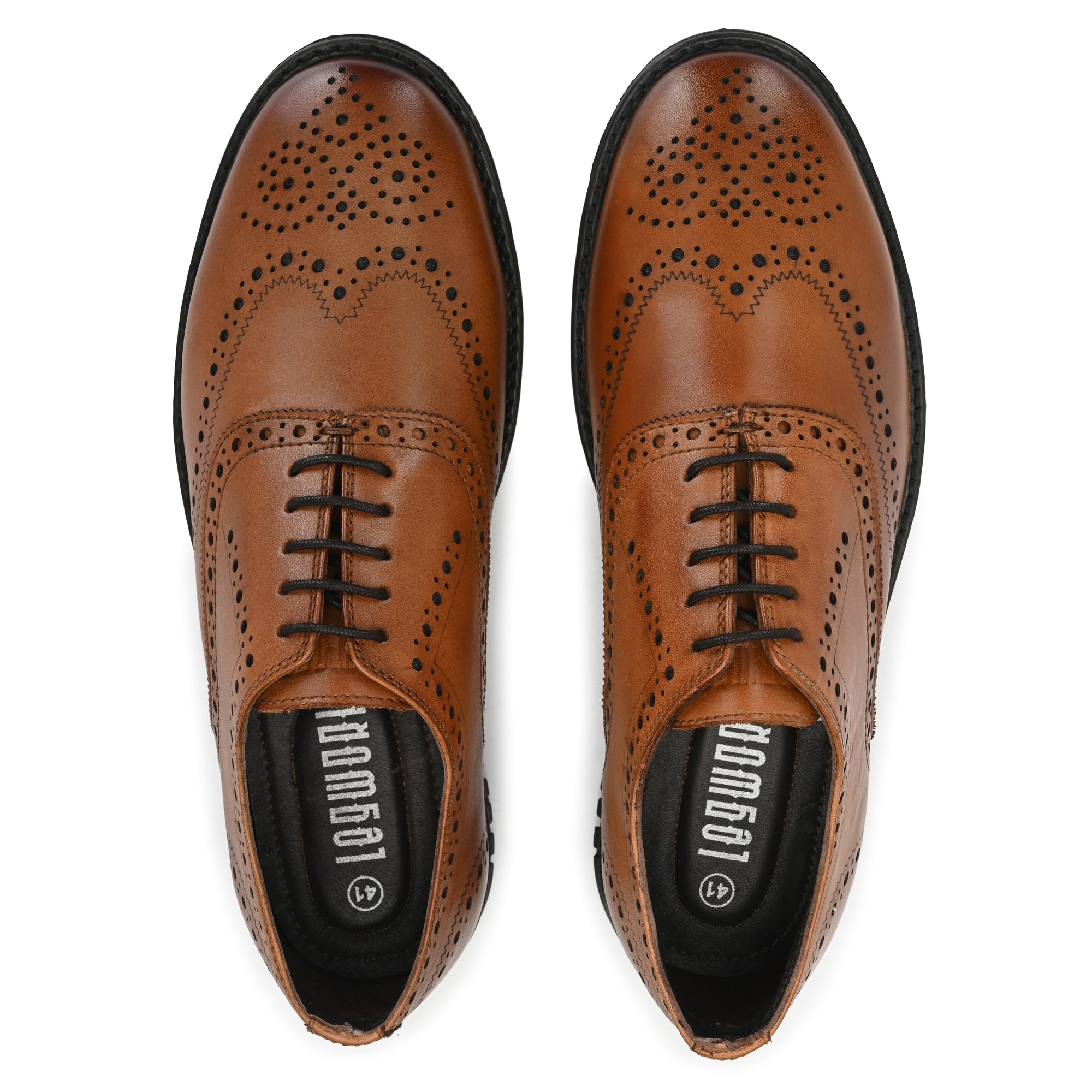 Legwork Informal Wingtip Oxford Brogue British Tan Full Grain Leather Shoe