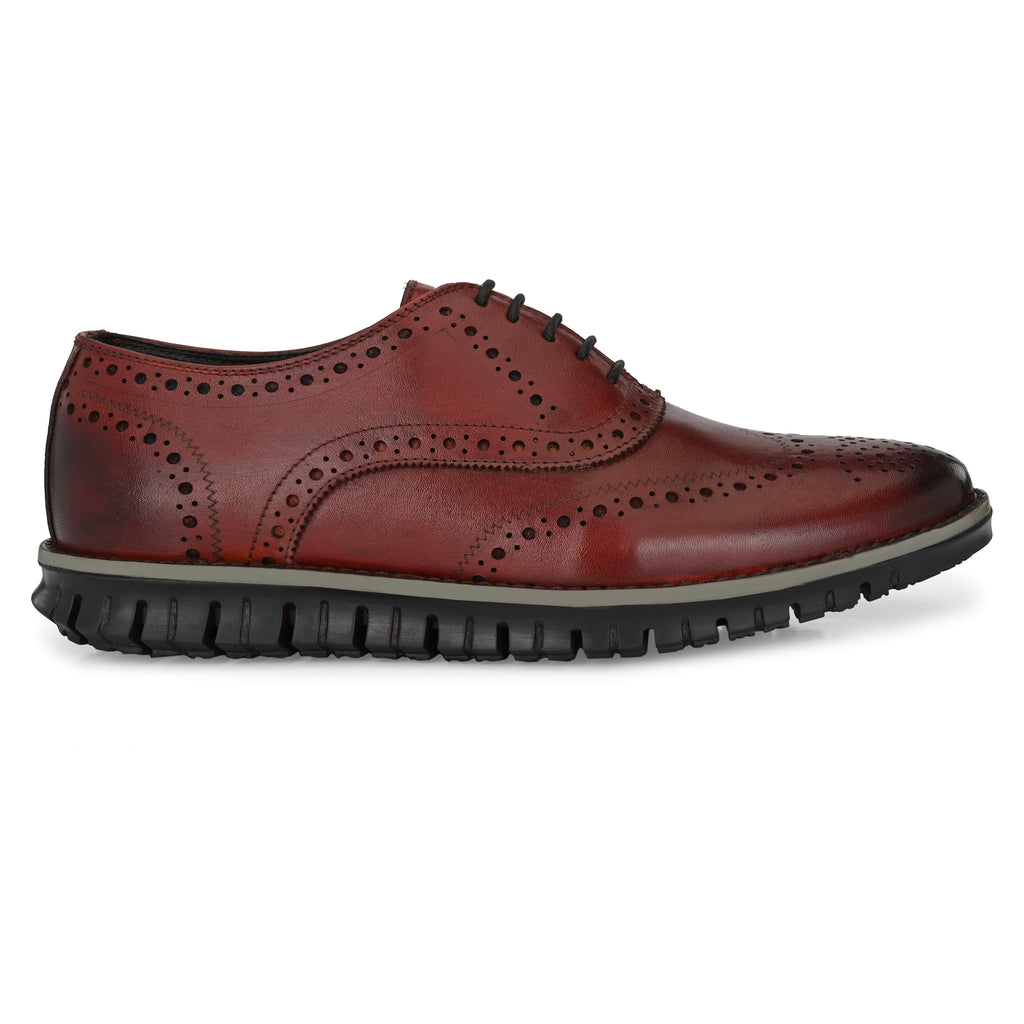 Legwork Brogue Cognac Italian Leather Shoe