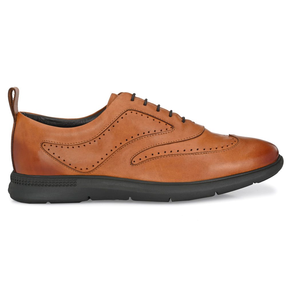 Legwork Shoes Classico Wingtip Oxford British Tan Full Grain Leather Sneaker