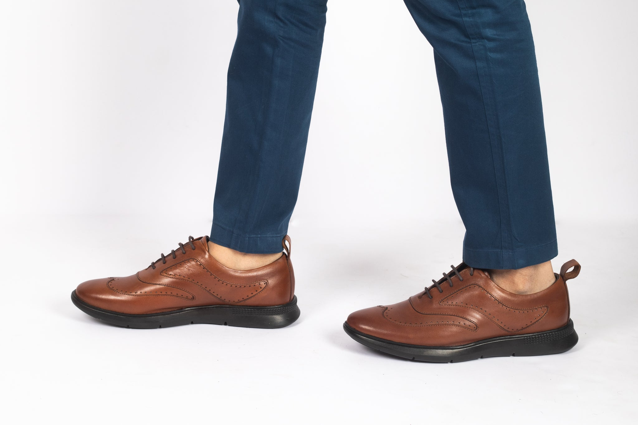 Legwork Classico Wingtip Oxford Red Full Grain Leather Sneaker