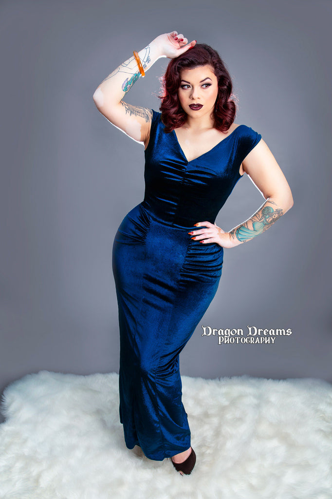 Nicolette Gown in Sapphire