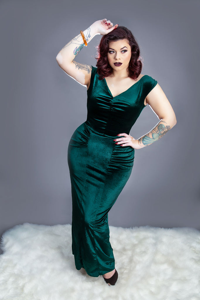 Nicolette Gown in Emerald