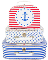 Alimrose Kids Carry Case Set - Nautical