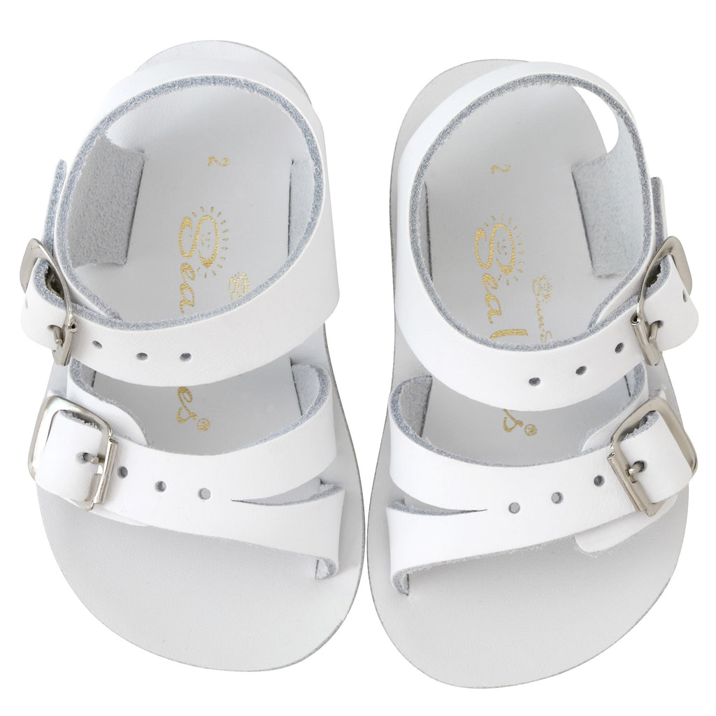 ad7387ff573b Salt Water Sandals Sun-San Sea Wees - White – Little Red Chick ...