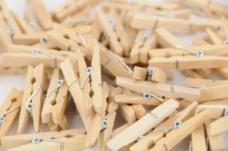 Natural Wooden Pegs 48mm