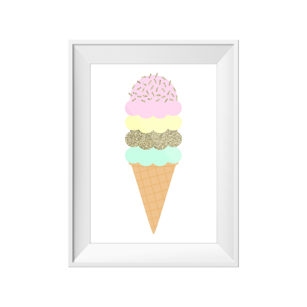Toucan Ice Cream Print A3