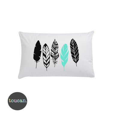 Toucan Feathers Pillowcase