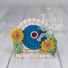 Blue Resin Magical Fairy Door
