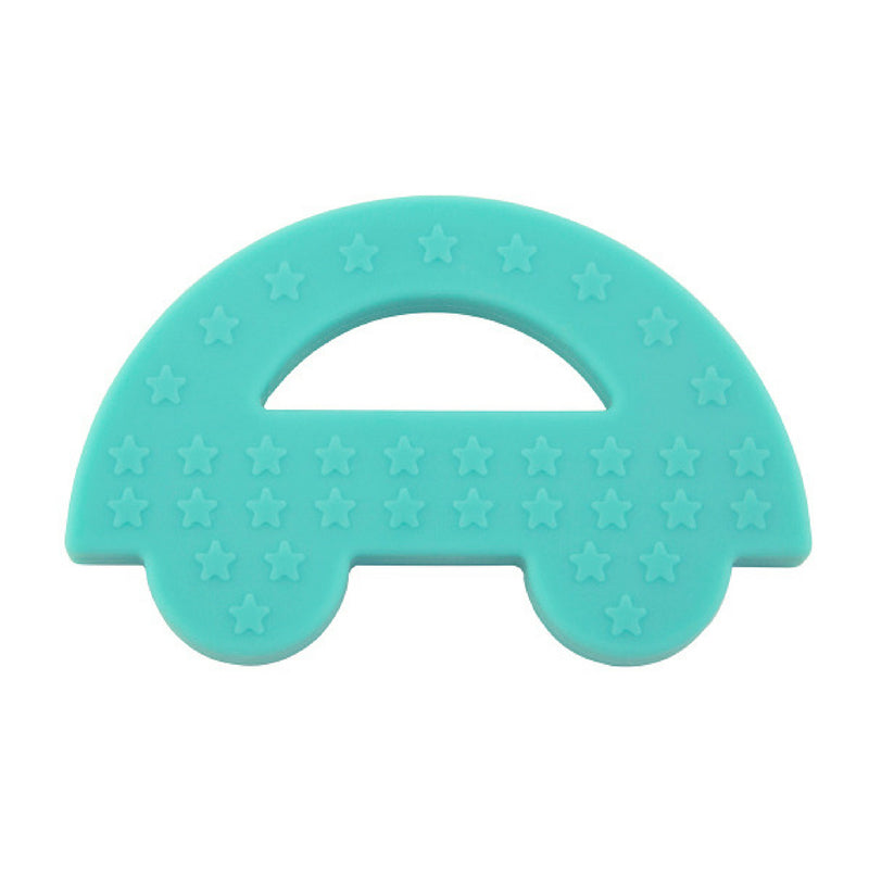 Charlie Car Silicone Teether - Blue