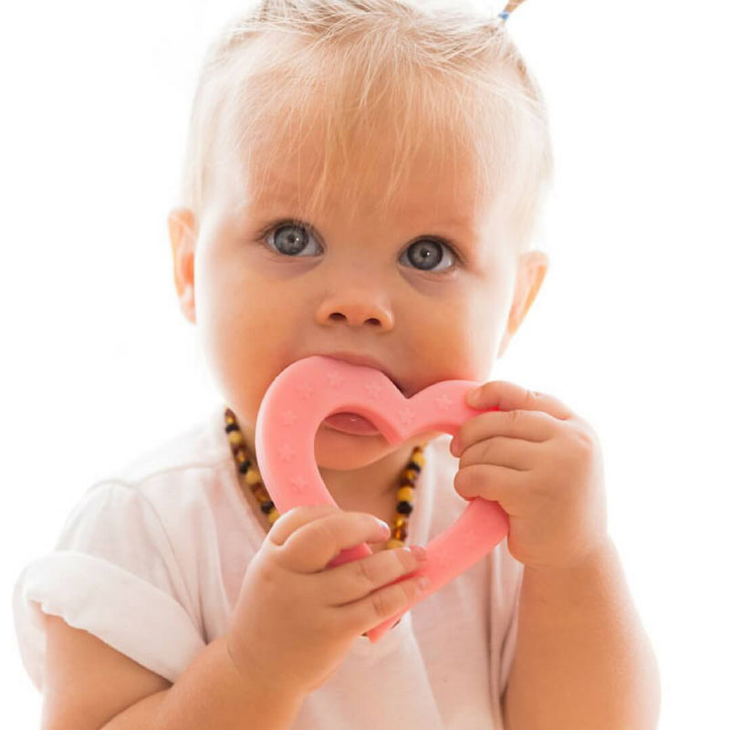 Heart of Hearts Teether - Pink