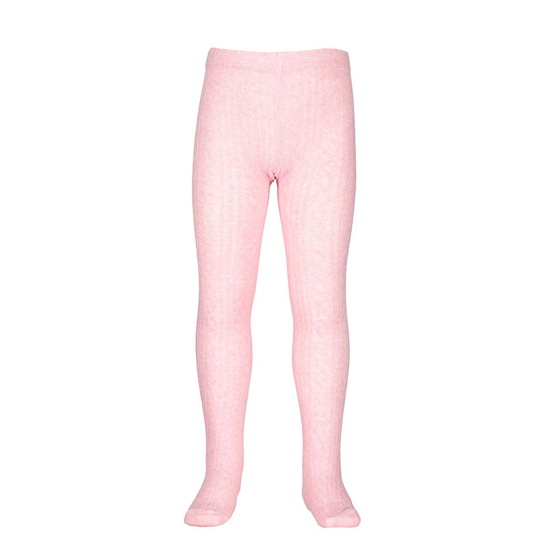 Jacquard Tights - Pink Marle