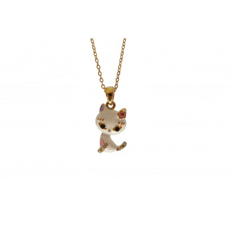 Goody Gumdrops Enamel Kitty Necklace
