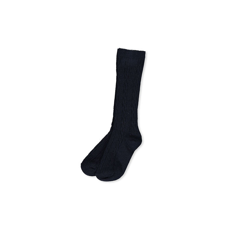 Milky Clothing Navy Jacquard Knee High Socks