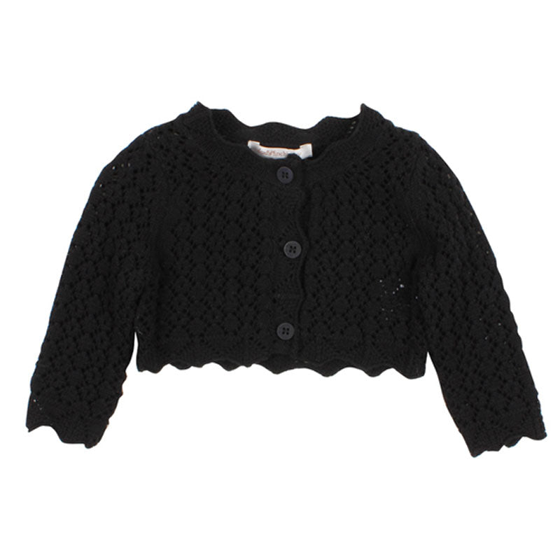 Lace Cardigan Black